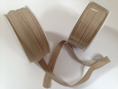 VIVANT Cotton Herringbone Ribbon Weddings - var Natural shades / lengths /widths