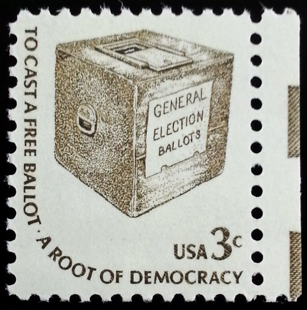 1977 3c Cast a Free Ballot, General Election Scott 1584