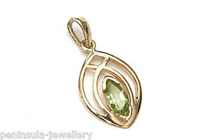 9ct-Gold-Peridot-Necklace-Pendant-Made-in-UK-Gift-Boxed