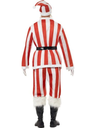 Red And White Striped Sports Santa Suit