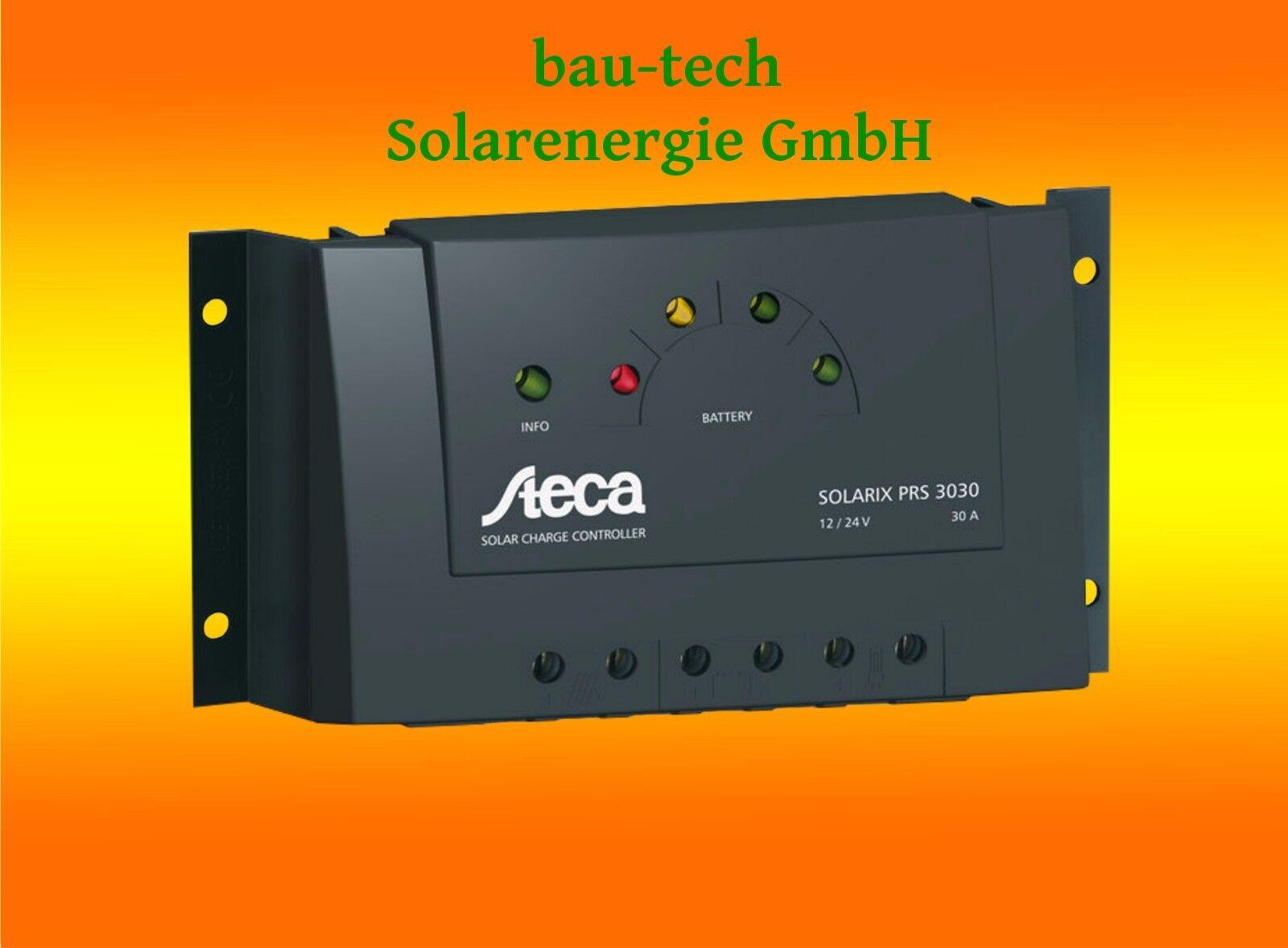 Steca Solarix PRS 3030 Solar Laderegler für Wohnmobil Camping Inselanlage