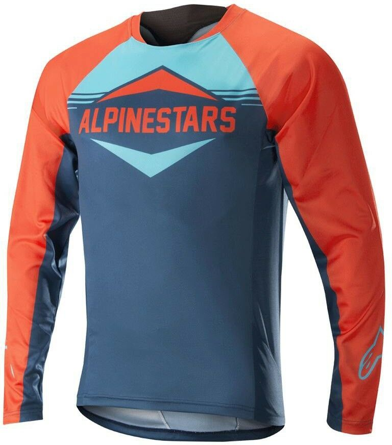 Alpinestars Mesa Long Sleeve Mens Cycling Jersey - orange bluee