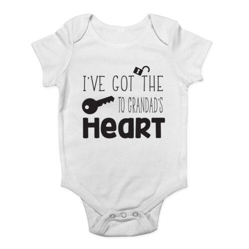 J'ai les clefs de coeur bébé mignon gilet body de papy