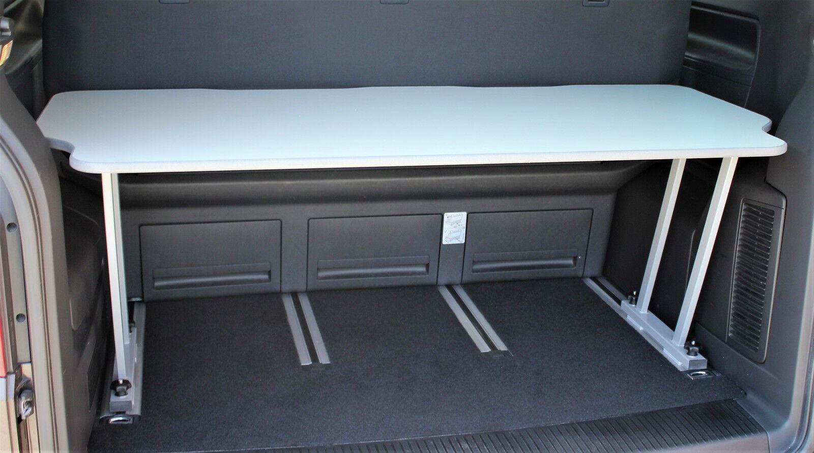 vw t5 t6 multivan multiflexboard konsolen grau. Black Bedroom Furniture Sets. Home Design Ideas