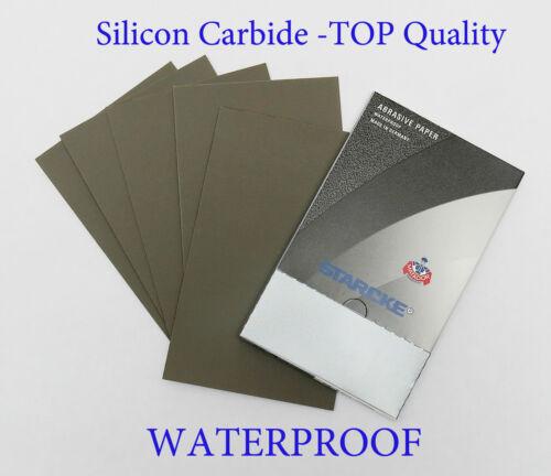 """Dry 50 pc 5 1//2/""""x9/"""" 1000 Grit Premium Silicone Carbide MATADOR SANDPAPER Wet"""