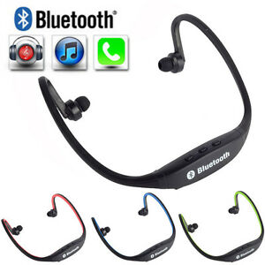 lot stereo wireless bluetooth headset sports headphones for iphone cell phone. Black Bedroom Furniture Sets. Home Design Ideas