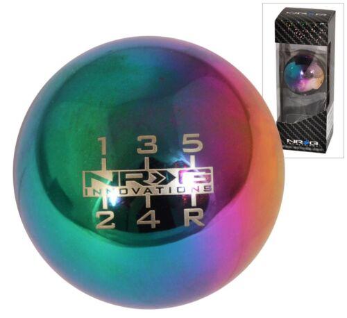 NRG BALL ROUND NEO CHROME WEIGHTED SHIFT KNOB UNIVERSAL 5 SPEED SK-300MC-W