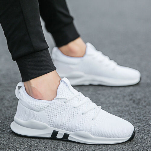 Mens TEENS Trainers Pumps Sport  Lace Up Running Gym Sneakers Mesh Shoes