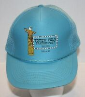 Blue Totem Pole Trading Post Since 1933 Trucker Mesh Hat/cap Snap Back Osfa