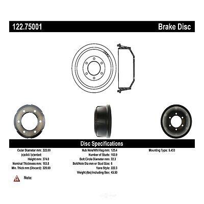 Brake Drum-Premium Drum Preferred Front Centric 122.75001