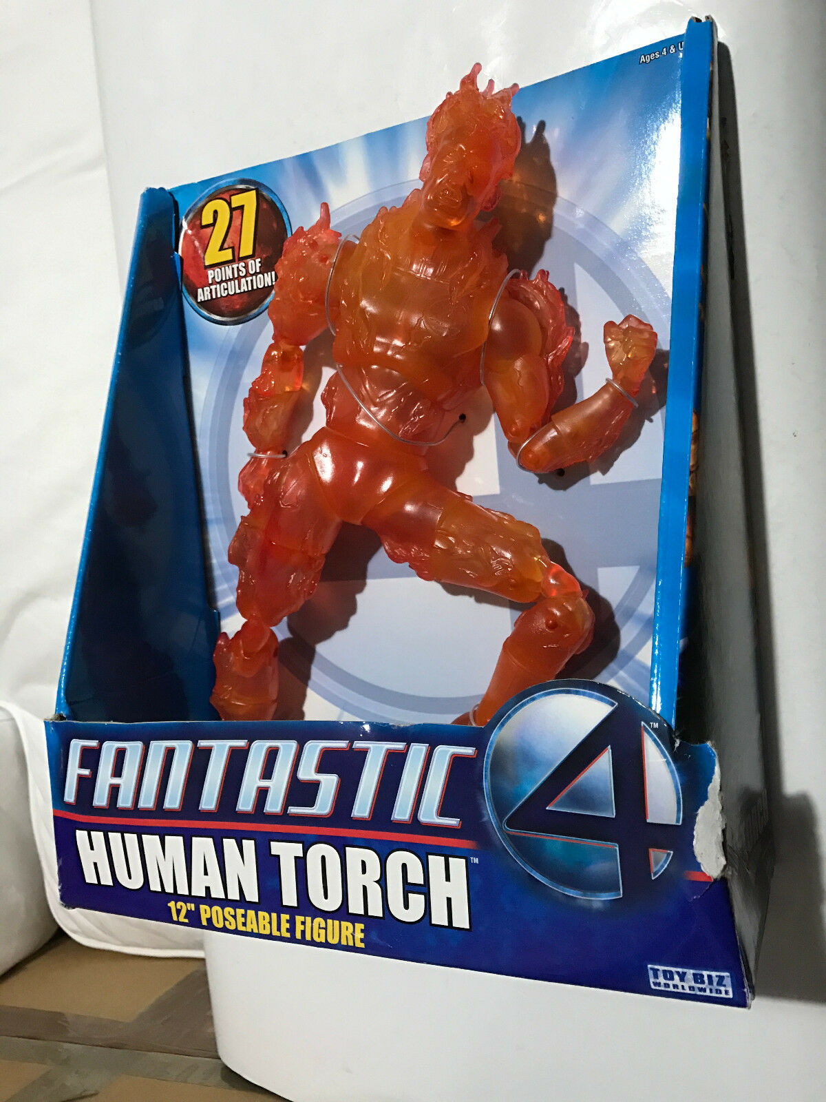 FANTASTIC FOUR MOVIE HUMAN TORCH FLAME ON 12  27 POA FIGURE TOYBIZ CHRIS EVANS 1