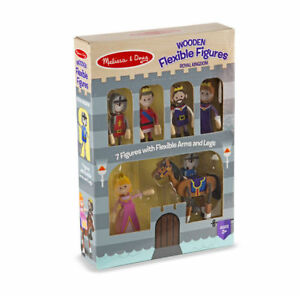 Details About 7 Pc Royal Kingdom Family Wooden Flexible New For 2018 Melissa Doug 2473
