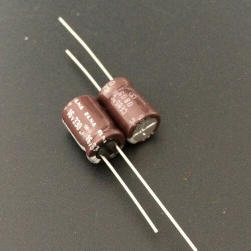 11pcs 330uF 16V 8x11.5mm 16V330UF Japan ELNA Audio Capacitor