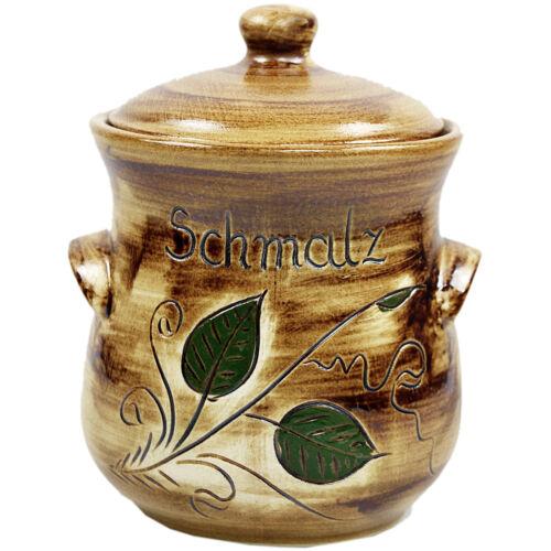 Schmalz schmalztopf M Vorratstopf-aufbewahrungstopf F Couvercle 1 L-Pot Céramique