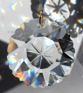Star-Burst-Etched-Prism-50mm-Austrian-Crystal-Clear-SunCatcher-2-inches