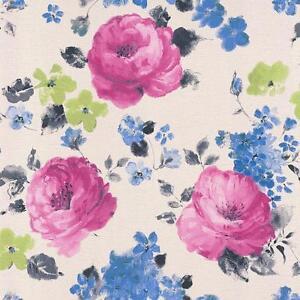 Rasch-FLORENTINO-Estampado-Floral-Agua-Color-Textura-Papel-Pintado-Blanco-Rosa