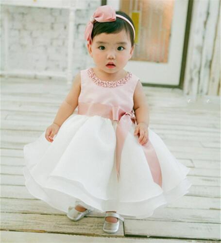 Summer Baby Girl Dress Toddler Kids Sleeveless Elegant Stylish Ball Gown Attires