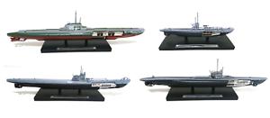 SAMMLUNG 4 SUBMARINES U-BOOT Orzel S13 1:350 MAßSTAB WAR WW2 SCHIFFE ATLAS