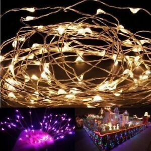 100-LED-10M-33FT-String-Fairy-Lights-Copper-Wire-Battery-Powered-Waterproof-DIY