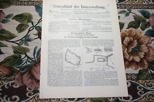 1893 Bauverwaltung 32/carrières Ports Bornholm 2/grunewald Berlin/-afficher Le Titre D'origine Achat SpéCial