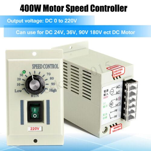 AC 220V 400W DC Motor Speed Controller Dimmer 220V Adjustable Driver Control