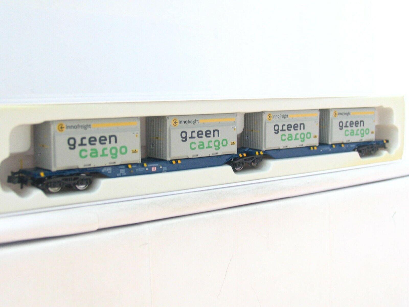 Hobbytrain N H23718-5 Containertragwagen Grün Cargo DB OVP (RB8005)    Um Zuerst Unter ähnlichen Produkten Rang