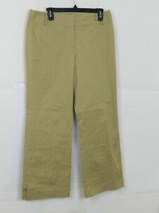 Ann Taylor Loft Womens Khaki Dress Pants Size 10 Wide Leg Beige