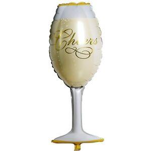 Détails Sur Ballon Geant Flute Coupe A Champagne Decoration Fete Anniversaire Mariage