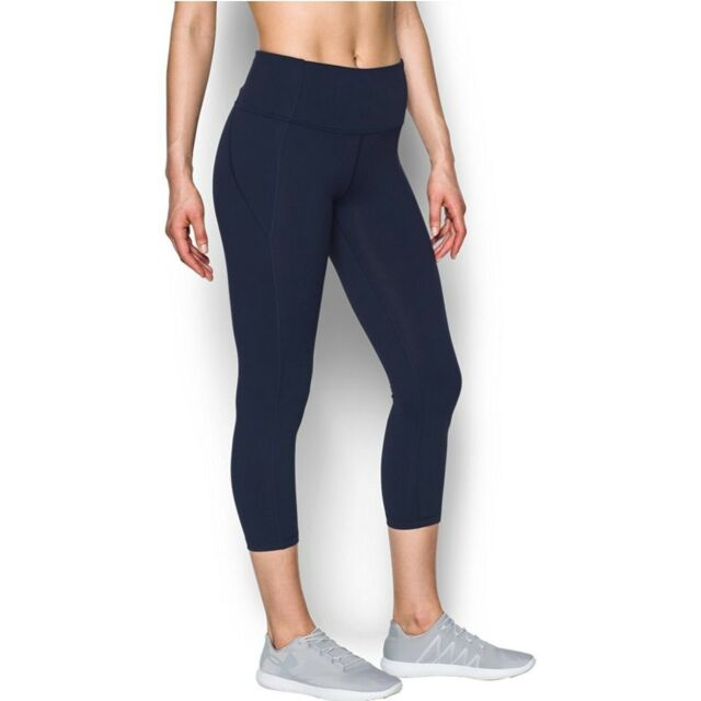 Activewear Womens Under Armour Size Xs Blue Stripped Cropped Capri Athletic Pants