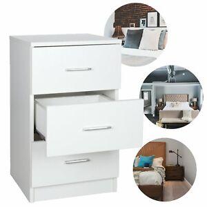 Nachttisch-Nachtkommode-Nachtschrank-Beistellschrank-Schubladen-Schlafzimmer
