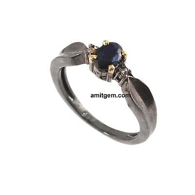 Natural Round Shape Ring Handmade Victorian Jewelry Rose Cut Diamond Ruby Sapphire Gemstone Ring,925 Sterling Silver Anniversary Gift