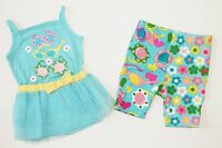 Krazy Legs Infant Girls 24 M Months Aqua Tank Top Mesh Tutu Leggings Outfit