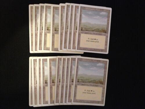 Revised SAME ART Magic MTG FTG MP-NM Condition 20 Basic Land Plains