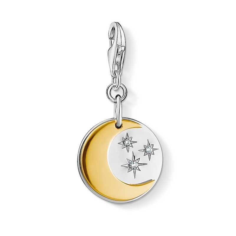 Genuine Thomas Sabo Charm Club Moon And Stars Charm CC1444