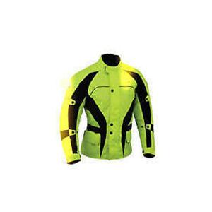 Hommes-Velo-Noir-Jaune-Veste-Moto-Textile-Impermeable-Renforce-Cycle-Gratuit