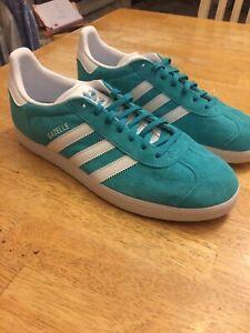 Adidas Gazelle Aqua Blue And White - Rare!   eBay