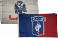 3x5 3'x5' Wholesale Combo Set Army White & Airborne 173rd Flags Flag
