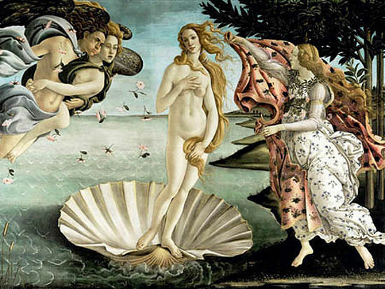 Sandro Botticelli  Geburt der Venus Keilrahmen-Bild Leinwand Klassiker