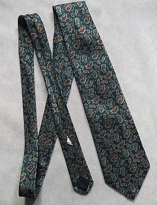 Serio Vintage Cravatta Dunn & Co Da Uomo Cravatta Retro Fashion Verde Rosso Blu Paisley-mostra Il Titolo Originale