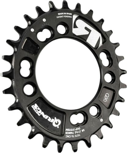 32T, 34T, 36T ROTOR MTB QX1 Qrings Single chainring oval chainring 76BCD X 4