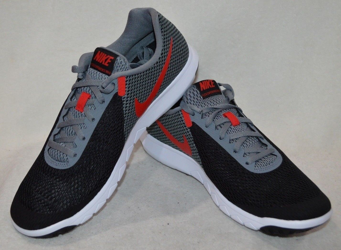 Nike Men's Flex Experience RN 6 Black Red Grey Running shoes-Assorted Sizes NWB