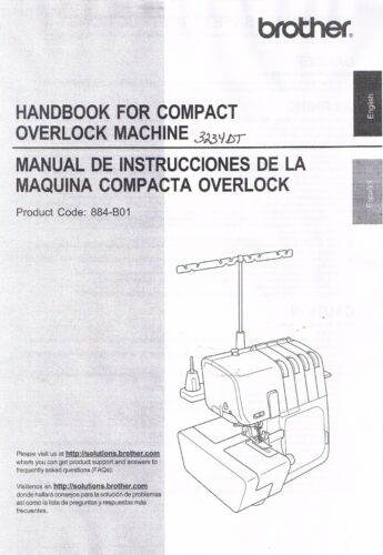 Brother 3234DT 4234DT 5234PRW Serger Overlock Owners Users Guide Manual Book