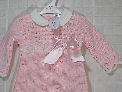 Spanish style baby girls clothes dress bloomers hat set newborn 0-3 3-6 months