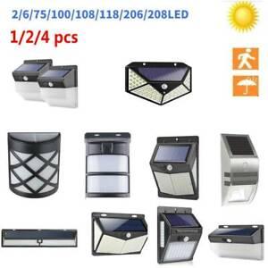 2-208LED-Solar-Luz-de-Pared-Impermeable-Sensor-de-Movimiento-Lampara-Exterior