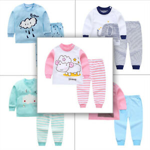 Pajamas Sets Tops Shorts 2Pcs Cotton Linen Baby Boys Girls Sleepwear Soft Fashion Unisex Kids Outfits