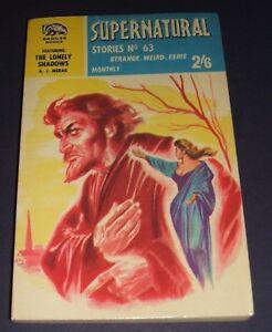 Supernatural-Stories-NS63-Badger-Books-UK-Vintage-Paperback-Collectible-Scarce