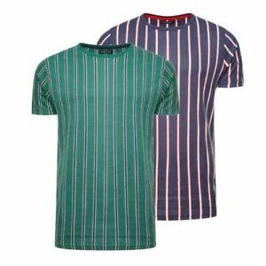 competitive price 851f6 c5d9a Details zu Herren T-Shirt Brave Soul Cript Rundhals Kurzarm Vertikal  Gestreift T-Shirt