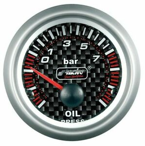 CAR-ELECTRIC-OIL-PRESSURE-GAUGE-METER-RETRO-CARBON-SIMONI-RACING