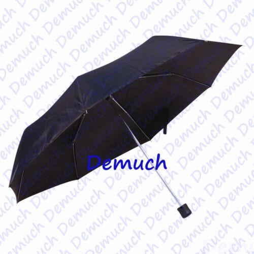 New MINI FOLDING UMBRELLA Rain Compact Lightweight Unisex Men Women Ladies Black