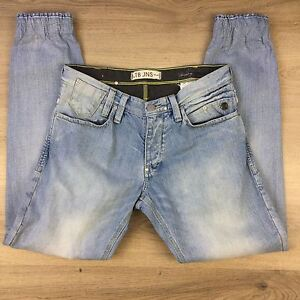 LTB-JNS-Upcycled-Elastic-Cuffed-Low-Rise-Mens-Jeans-Size-W31-L32-Actual-W32-J4